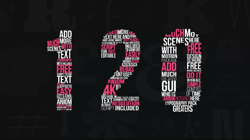 120种文字标题字幕特效FOR AE,PR