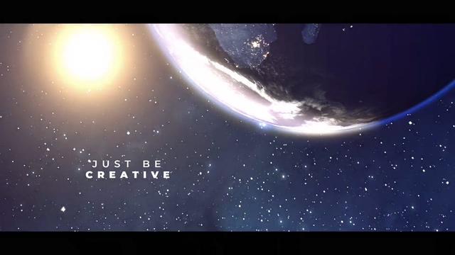 宇宙星空天体地球耀斑光晕片头