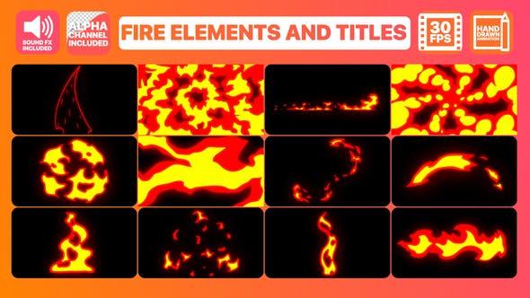 最新动感mg动画火焰特效包含转场文字