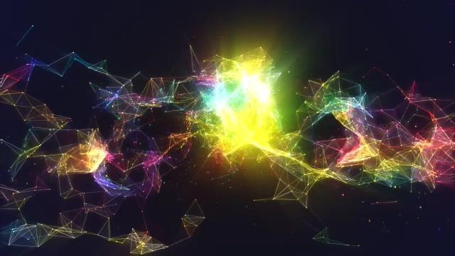 片头,科技,多边形,线条,粒子,免费视频素材
