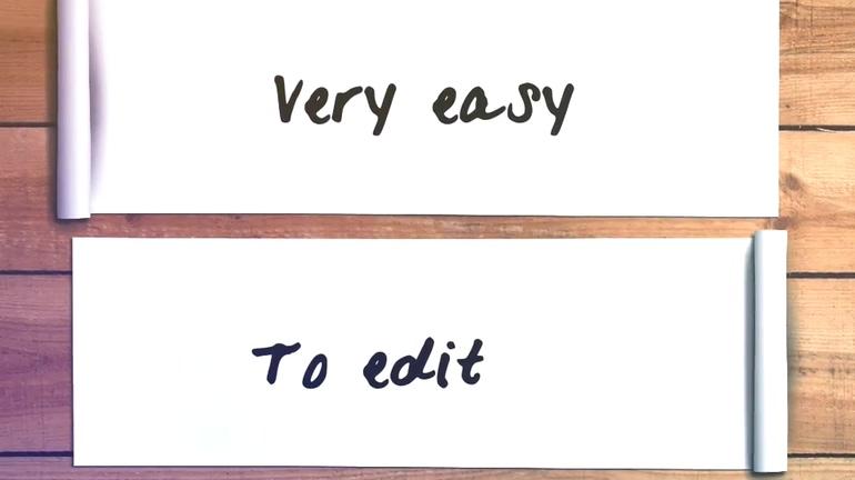 简洁简单学校作品手写画画展示片头视频素材影视模板