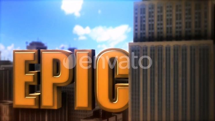 展示,片头,震撼,字体,3d,城市,免费视频素材