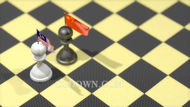 用国际象棋的手法来表现中国与马来西亚政治博弈