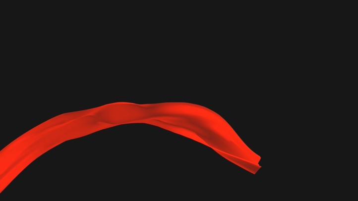 5种透明通道红绸视频素材