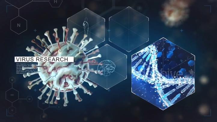 科技生物病毒医学研究片头视频素材影视模板