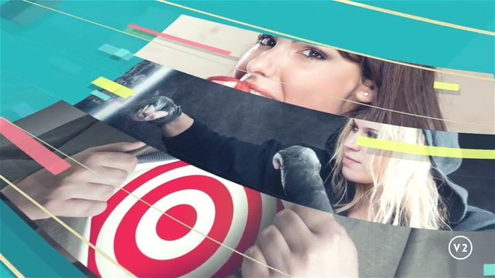 时尚,圆环,自媒体,图形视频素材