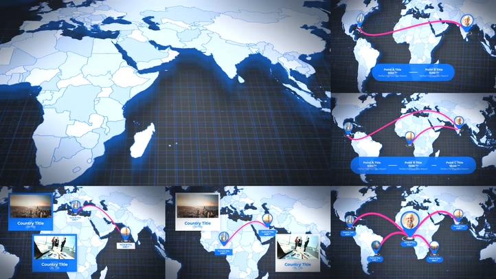 业务标记世界各个角落