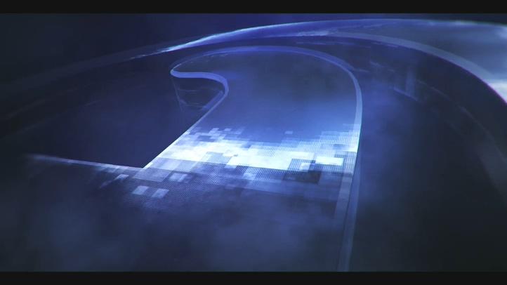 华丽镜面金属质感能量粒子logo片头