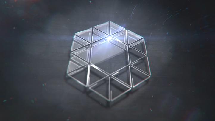 精致辉光耀斑金属亚克力时尚logo片头