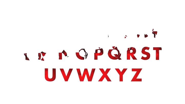 折纸特效字母数字符号单位影视特效AE工程