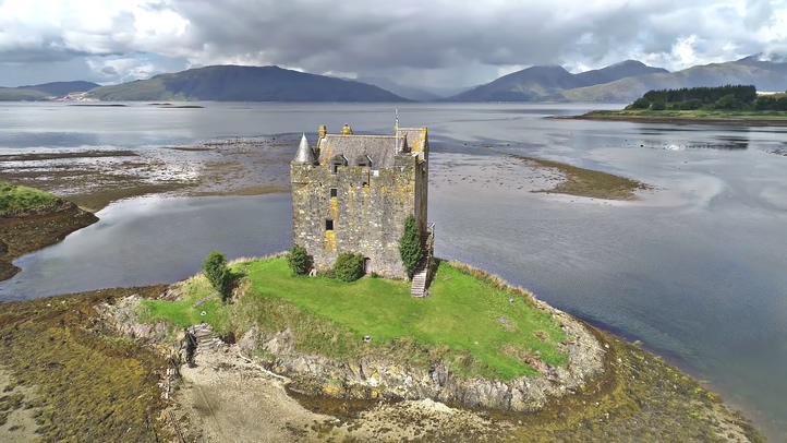 航拍美丽的苏格兰(高地/斯凯岛Highlands/Isle of Skye)超清视频实拍素材