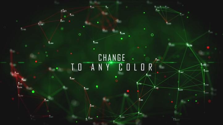 10种颜色科技点线链接化学教育资讯片头AE