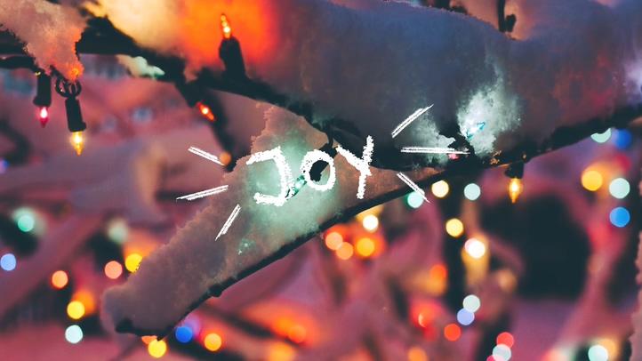 圣诞节雪花文字特效节日推广栏目模板