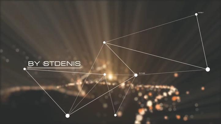 华丽粒子绽放点线logo视频素材