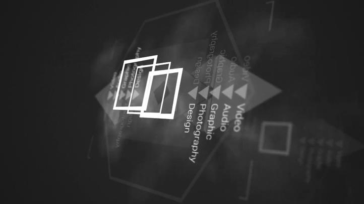 资讯,片头,信息,爆炸,几何图形,科技视频素材