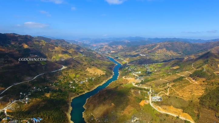 山川,高清,山河,壮美,中国,航拍视频素材