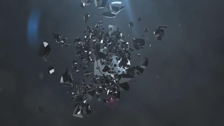 科技,玻璃,击碎,免费视频素材
