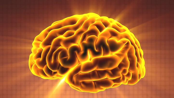 光芒,脑,黄金,散发,科技,3d,大脑,医疗,医疗科技3d大脑向外散发光芒脑白金脑黄金,无缝循环视频素材