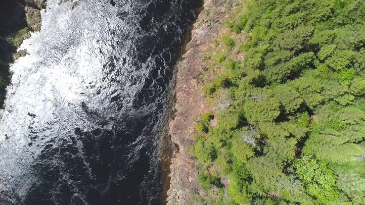 悬崖,弯道,航拍,河流,90度,免费视频素材
