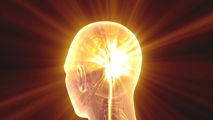 光芒,医疗,视频,素材,金色,散射,3d,头部,模型,大脑,人体3d头部模型大脑散射金色光芒医疗视频素材视频素材