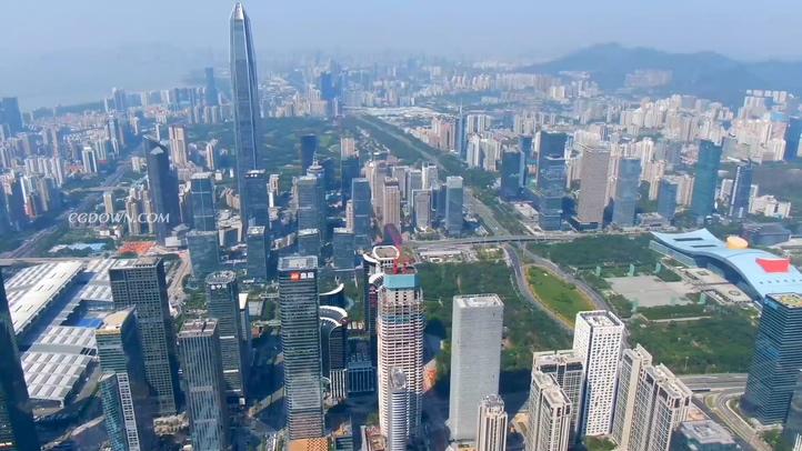 深圳,平安,金融,城市,高楼,航拍,高清深圳平安金融大厦航拍实拍素材视频素材