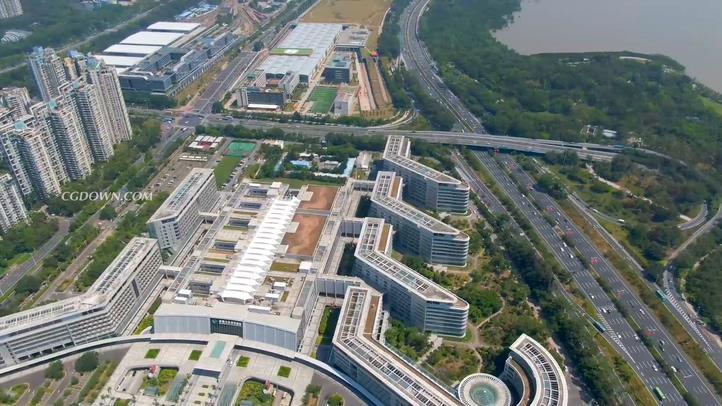 深圳,城市,航拍,高楼,金融,繁荣,高清最新深圳城市湾航拍实拍素材视频素材
