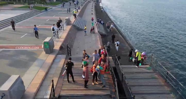 山东,航拍,威海,沿海,城市,高清航拍中国沿海城市山东威海实拍素材视频素材