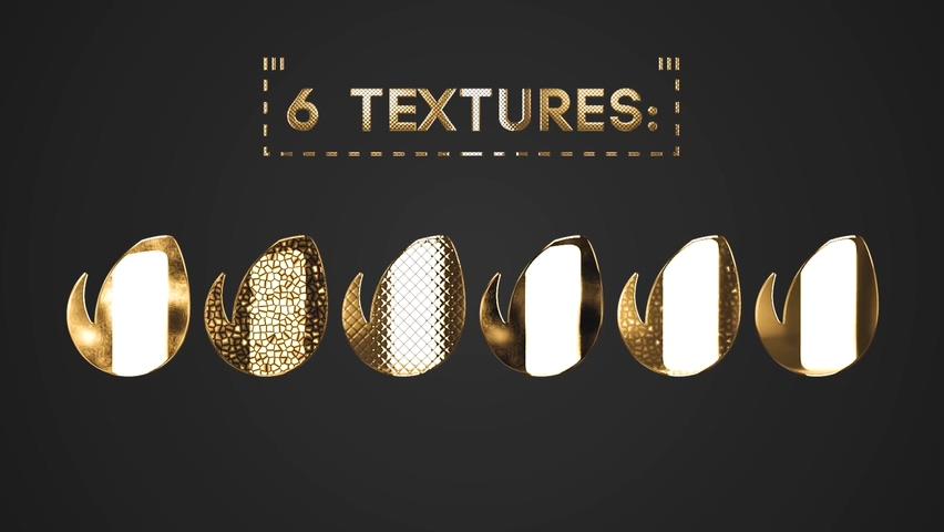 文字,标志,片头,质感,黄金,华丽,金色,金属视频素材
