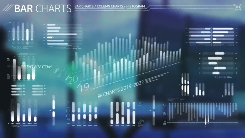hud,图形,动态,商务,企业,财经,报表,数据,最新动态商务企业自定义可调节hud图形AE工程视频素材