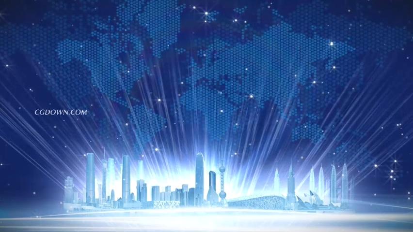 中国,上海,世界,科技,星光,闪耀,中国上海世界科技星光闪耀背景视频素材视频素材
