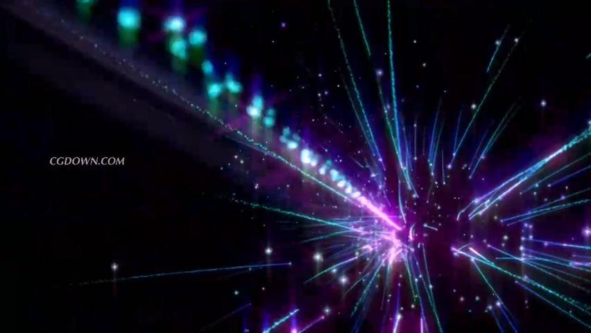 原创璀璨星光空间粒子能量视频素材影视模板