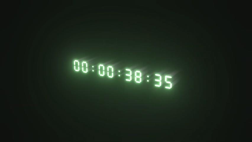 数字,计时,绿色,数码,荧光,数码绿色荧光计时数字视频素材,免费视频素材