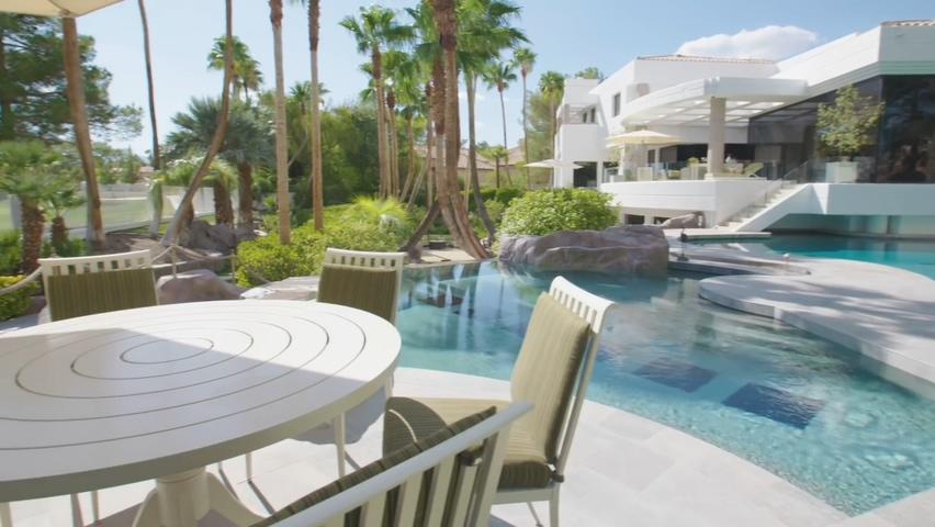 美国,豪宅,拉斯维加斯,价值为1850万美元的拉斯维加斯庄园实拍素材视频素材
