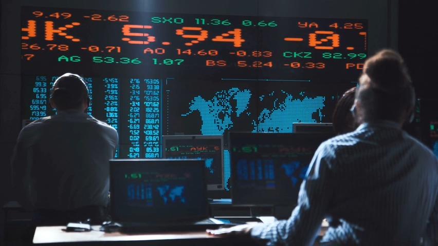 经济下滑,股市下跌,崩盘,交易所,美股,交易所,经济崩盘股市下跌交易所实拍视频素材