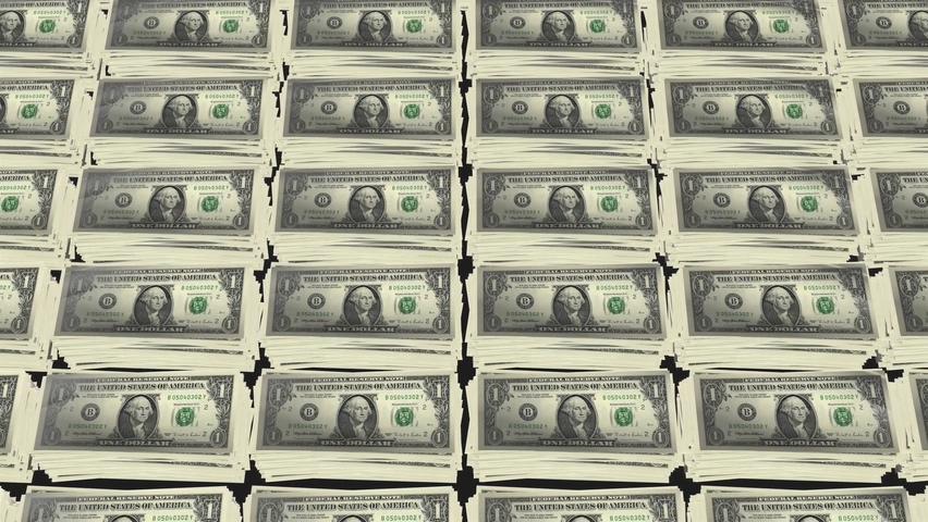 美金矩阵罗列动画金融视频素材影视模板