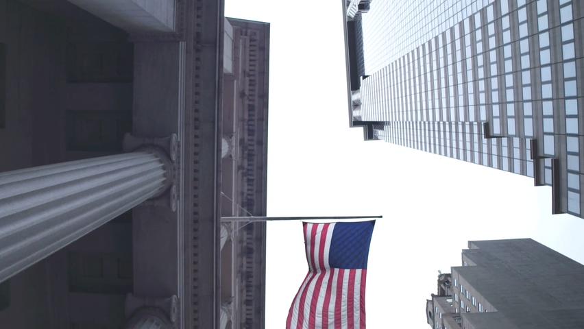 美国,银行,美联储,货币,仰拍美联储银行实拍素材视频素材