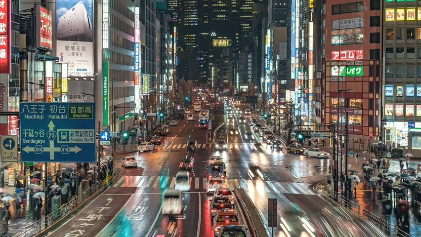 日本,东京,城市,夜晚,车流延时,日本东京城市夜晚车流延时视频素材
