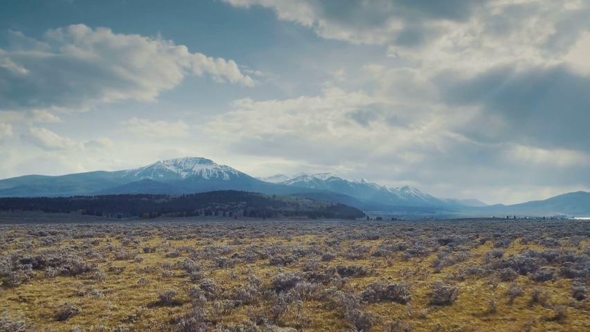 美国,航拍,风景,蒙大拿州,美国蒙大拿州航拍实拍视频素材