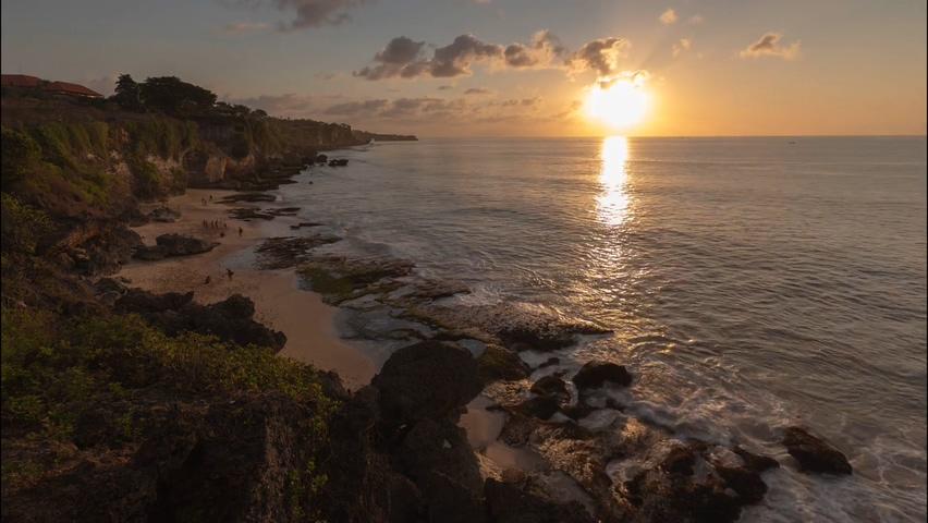 晚霞,夕阳,大海,海霞,阳光,火烧云,海面,延时,延时拍摄从傍晚到夜晚的海面风景视频素材