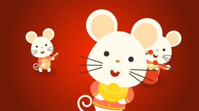鼠年,老鼠,可爱,卡通,2020,新年,竖屏,2020可爱中国新年鼠年小老鼠恭贺片头,抖音视频素材