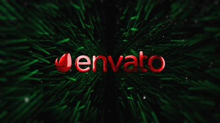 圣诞,新年,绿色,logo,圣诞树绿色枝叶中间logo片头视频素材