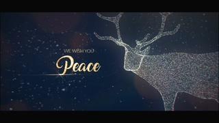 圣诞,老人,粒子,3d,立体,鹿,快乐圣诞3d立体粒子图形圣诞元素庆祝片头视频素材