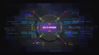 科技线条数码评测logo片头