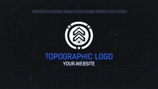 暗网数码科技线条logo片头