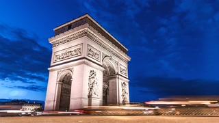 法国,巴黎,凯旋门,延时,车流,交通,经济,法国巴黎凯旋门延时车流视频视频素材