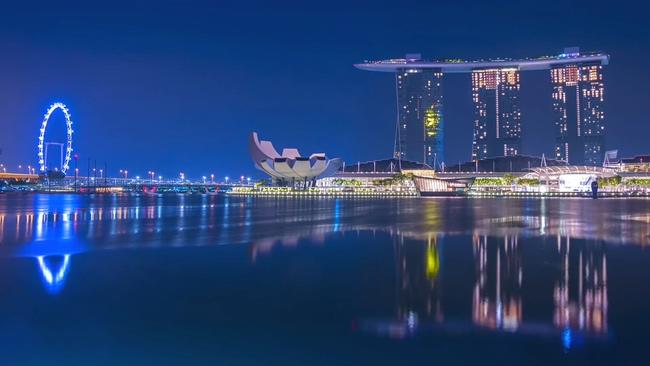 新加坡,海滨湾,延时,酒店,新加坡海滨湾金沙酒店拍摄延时视频素材