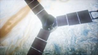 木星,卫星,朱诺,运行木星的朱诺卫星视频素材视频素材