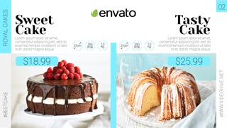 蛋糕款式大促宣传电商视频模板