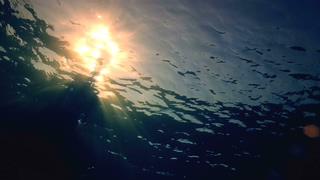 阳光照耀着水波纹视频素材