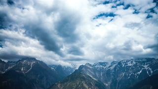 高山,印度,优美,山谷,时间流逝的高山风景印度喜马尔邦斯皮提山谷视频素材